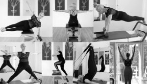 Pilates exercise movement demos at studio in The Hague Netherlands